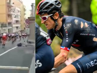 Exit van de topfavoriet: Geraint Thomas verlaat Giro na val over drinkbus