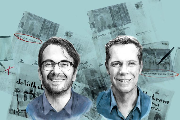 Plaatsvervangend hoofdredacteur Pieter Klok (links) en hoofdredacteur Philippe Remarque. Beeld