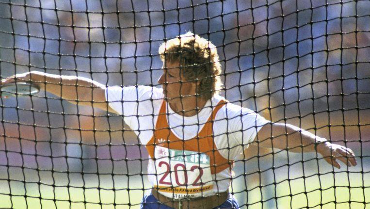 Ria Stalman tijdens de Spelen van Los Angeles in 1984. Beeld anp