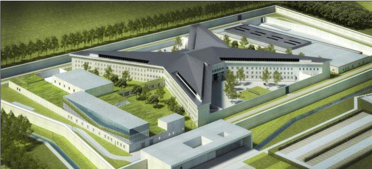 Zo zou de nieuwe gevangenis van Dendermonde er moeten uitzien.
