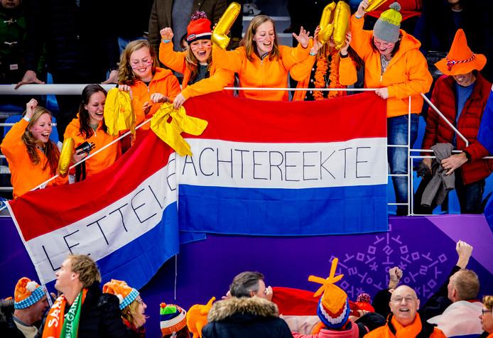 Olympische Winterspelen 2018 Pyeongchang Oranjefans blij met het goud van Carlijn Achtereekte Foto Pim Ras
