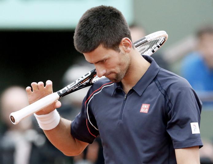 Novak Djokovic na zijn nederlaag op Roland Garros.
