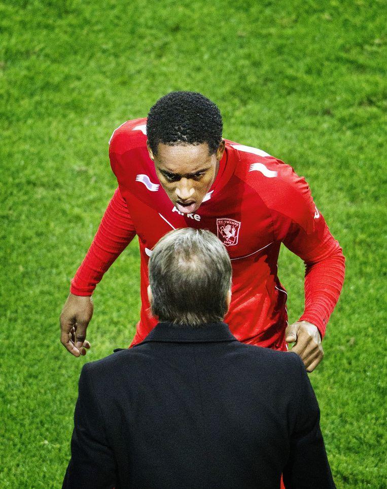 Als coach van FC Twente met Leroy Fer, in 2011. Beeld Jiri Buller