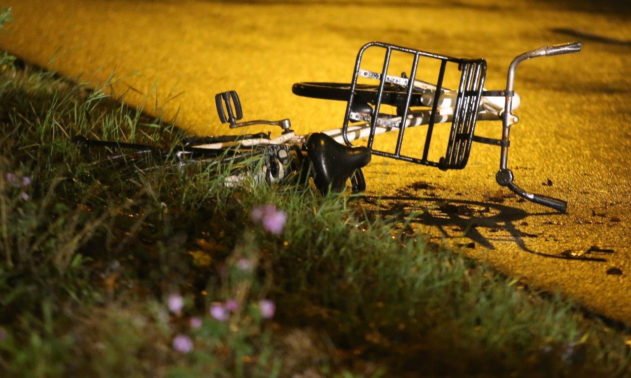 De fiets waarmee Indy Verhallen verongelukte.