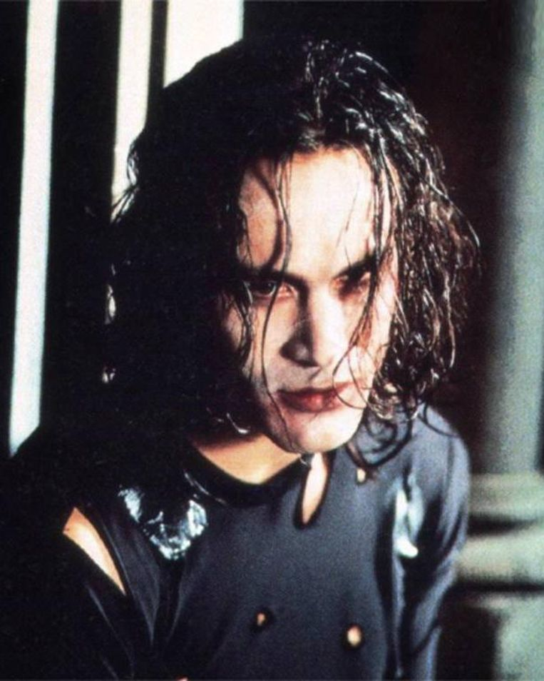 Brandon Lee in 'The Crow'. Beeld