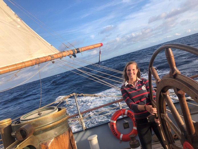 Emma van Kampen uit Woudenberg zeilt met de Wylde Swan de oceaan over