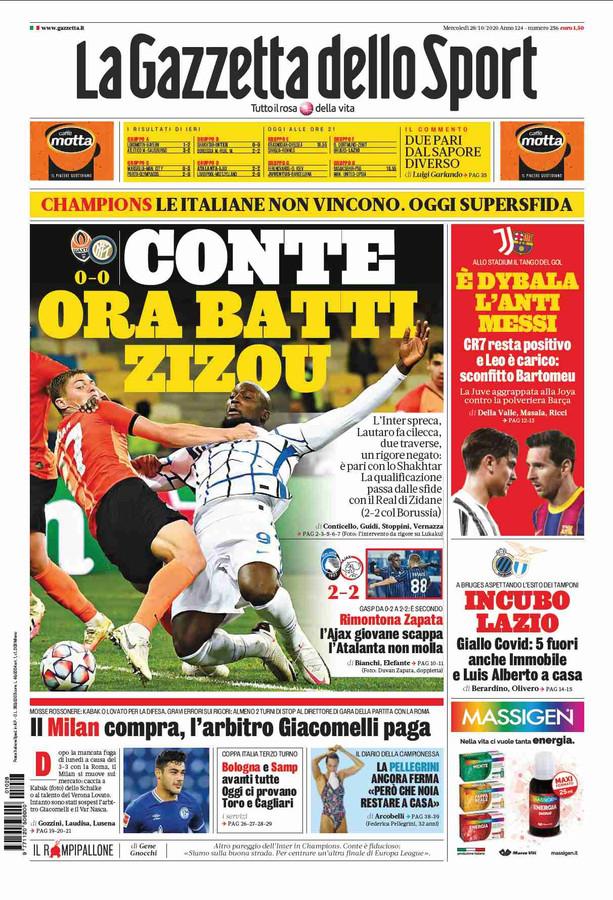 Cover La Gazzetta dello Sport
