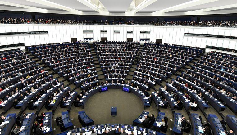 Het Europees parlement in Straatsburg, vanmiddag.