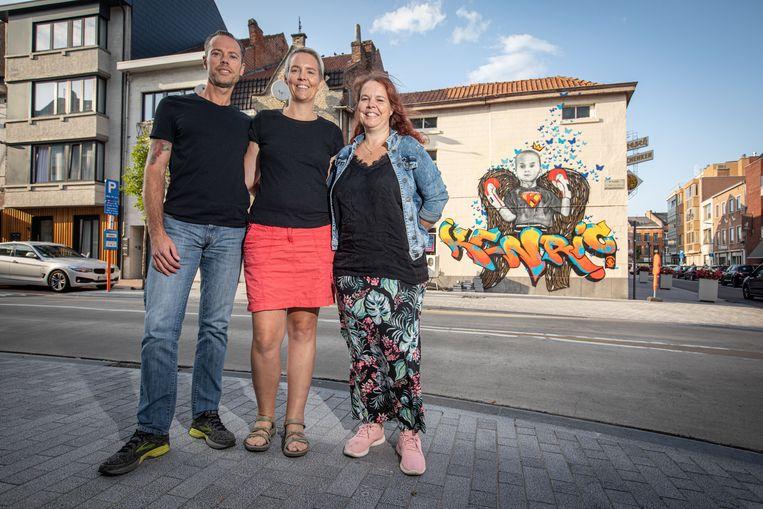 Ouders Serge en Livia  samen met tante Ellen.