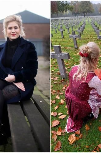 """Carrera Neefs na de heisa over de bloemen op graf van SS'er: """"Die dirndl? Als ik naar het kerkhof ga, draag ik graag iets chic"""""""