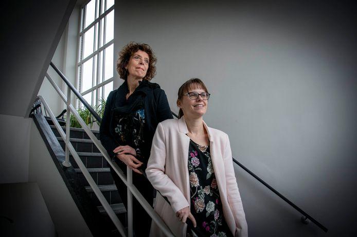 Marieke Schoenmakers en Carla van den Broek (boven).