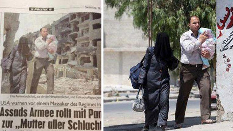 Links de foto in Kronen Zeitung, rechts het beeld van EPA. Beeld Gizmodo