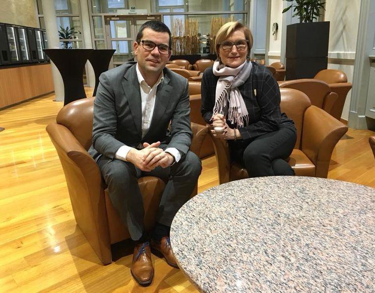 Danielle Godderis T'Jonck samen met Sander Loones