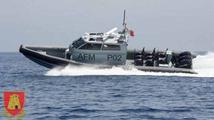 Patrouilleboot PO2 van de Maltese strijdkrachten.
