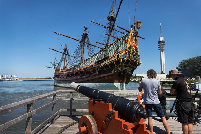De Batavia werd vorig jaar gedraaid, om het schip