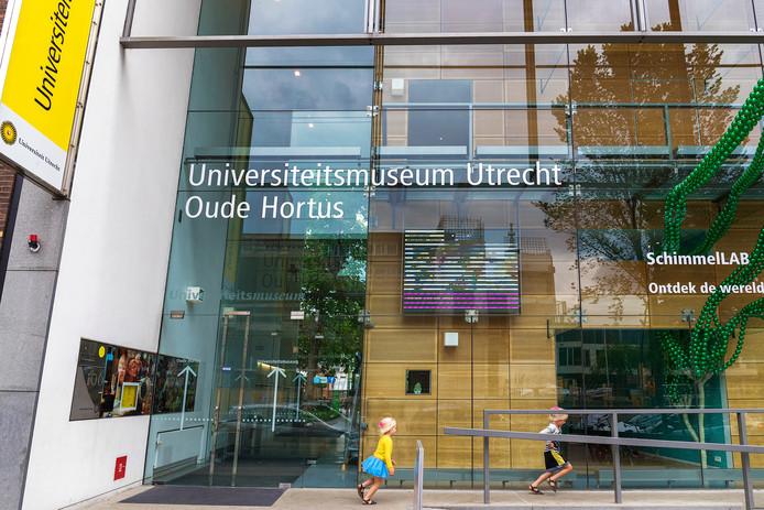 De glazen gevel van het Universiteitsmuseum van architect Koen van Velsen uit 1996.