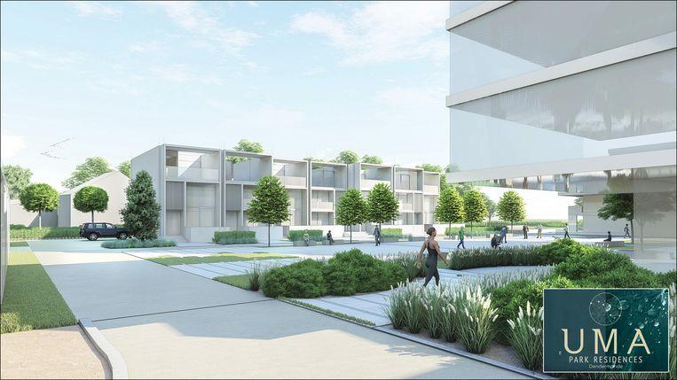 Het UMA Park zal plaats bieden aan allerlei types woongelegenheden, zoals studio's, loftwoningen, appartementen en zelfs een co-housing woonerf.