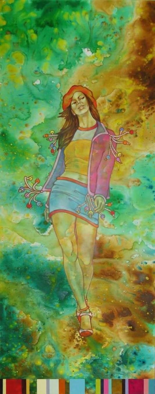 Werk van Carolina Wajon, te zien in de Spadestraat.