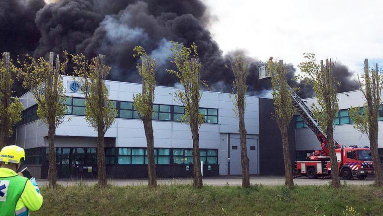 Brand in het Westelijk Havengebied, afgelopen zaterdag. Beeld anp
