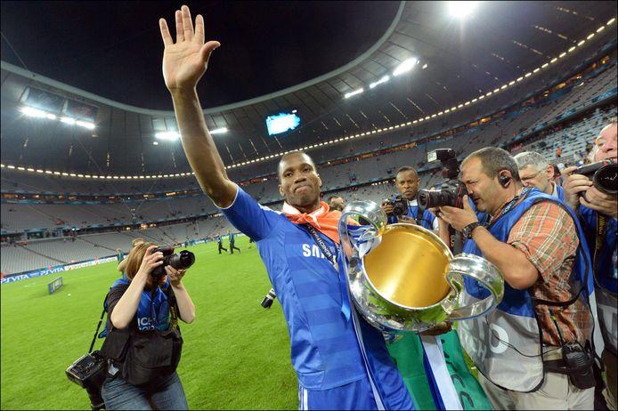 Didier Drogba na de finale van 2012.