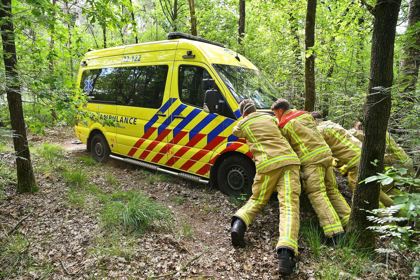 Een man raakte zwaargewond bij het ongeval met zijn quad in Heeze.