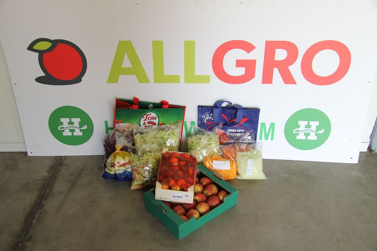 Allgro verkoopt vier soorten groentepakketten voor het goede doel.