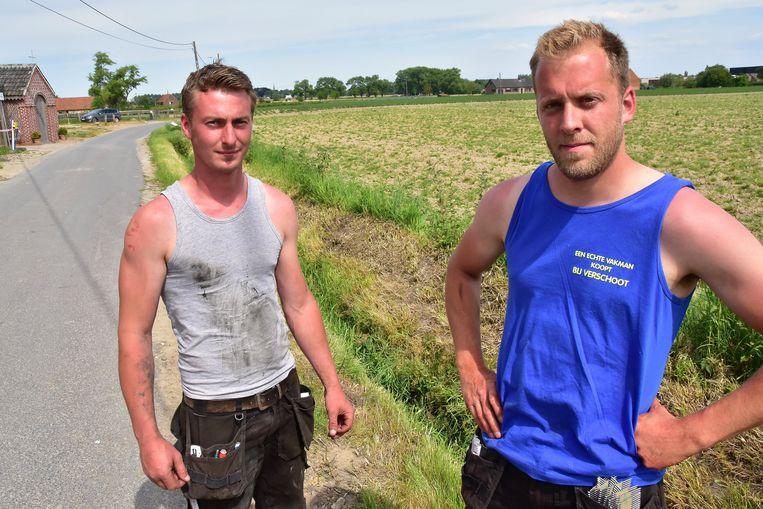 Laurens Decoopman (27) en Joshua Baert (30) haalden de man uit de gracht en startten de reanimatie.