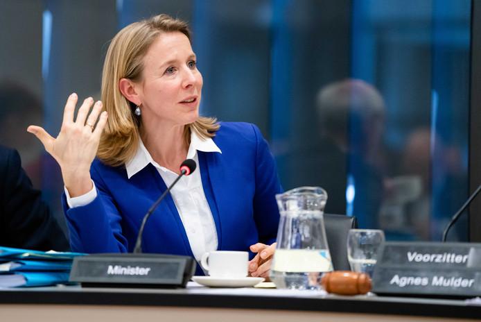 Archiefbeeld: Minister Stientje van Veldhoven van Milieu en Wonen tijdens het debat