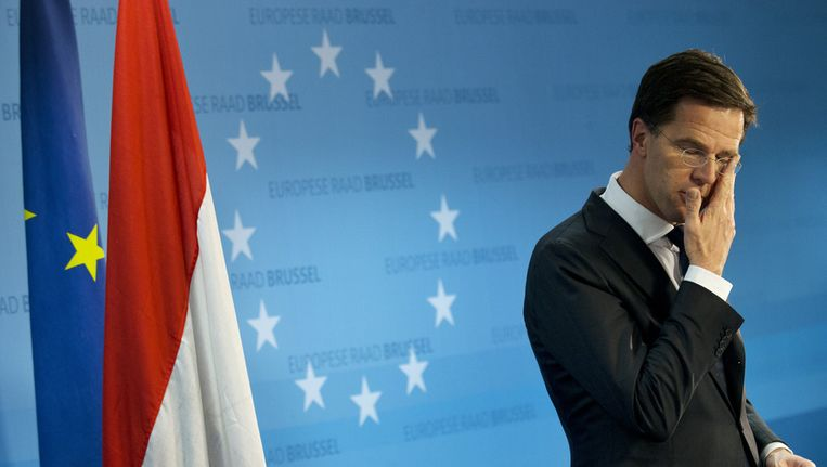 Premier Rutte in Brussel. Beeld ANP