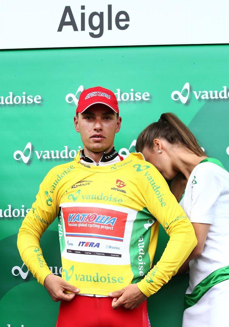 Simon Spilak moest zijn gele leiderstrui nog afstaan.