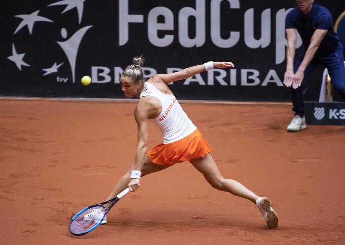 Arantxa Rus  in haar partij  tegen Bianca Andreescu