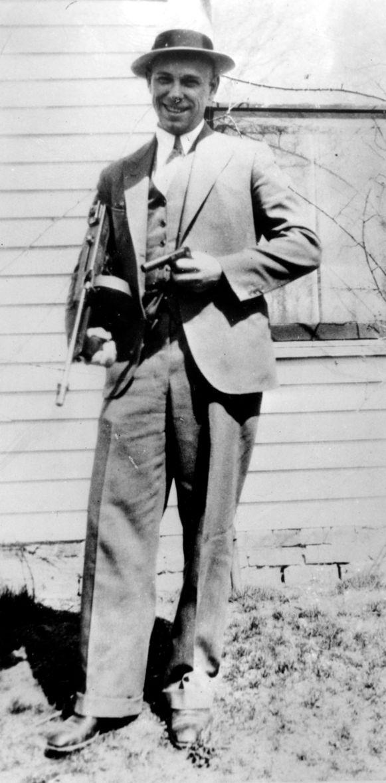 John Dillinger op een foto uit 1934, het jaar dat hij stierf.