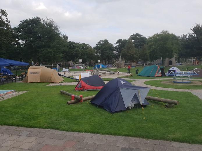 De kampeerweek van speeltuinvereniging Philipsdorp in 2018.