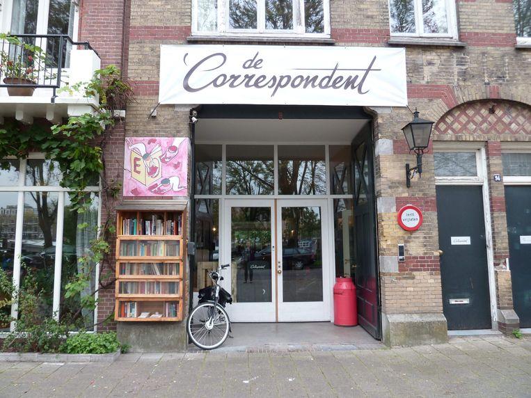 Het hoofdkantoor van De Correspondent in Amsterdam Beeld AFP