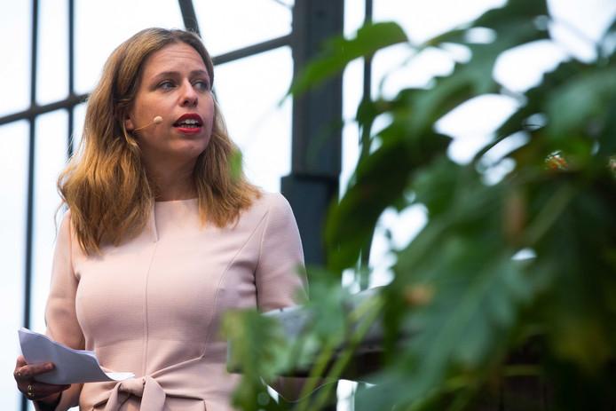 Minister Carola Schouten (Landbouw, Natuur en Voedselkwaliteit) tijdens de presentatie van haar visie op de toekomst van de landbouw.