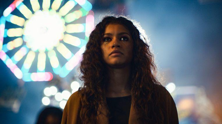 Zangeres-actrice Zendaya is geknipt voor de hoofdrol van de getroebleerde tiener Rue. Beeld HBO