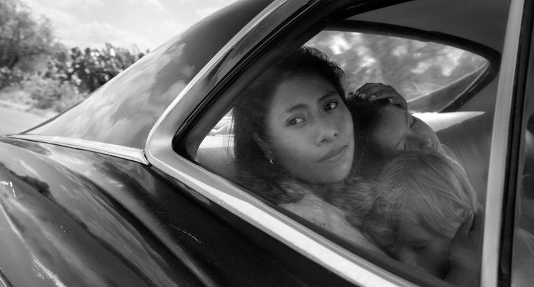 Yalitza Aparicio als Cleo in de film Roma.  Beeld