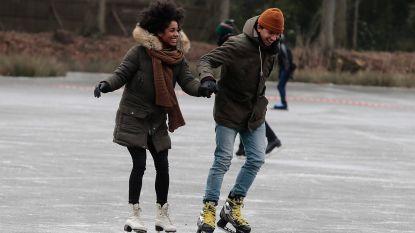 Na halve dag plezier is ijs alweer te dun: Kraenepoel Aalter ook vandaag verboden voor schaatsers