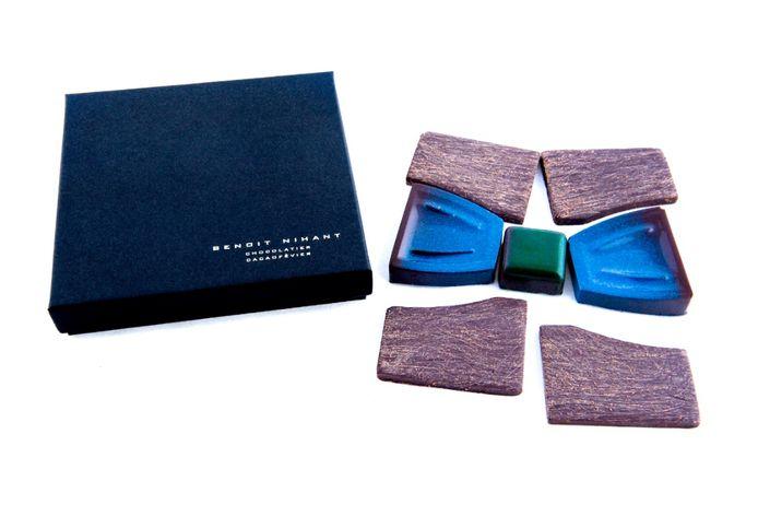 Le joli noeud papillon en chocolat de Benoît Nihant.
