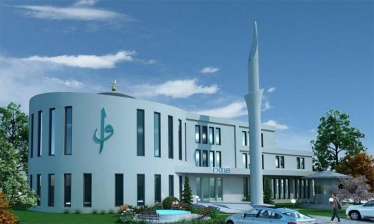 De moskee in Regensburg is momenteel nog in aanbouw.