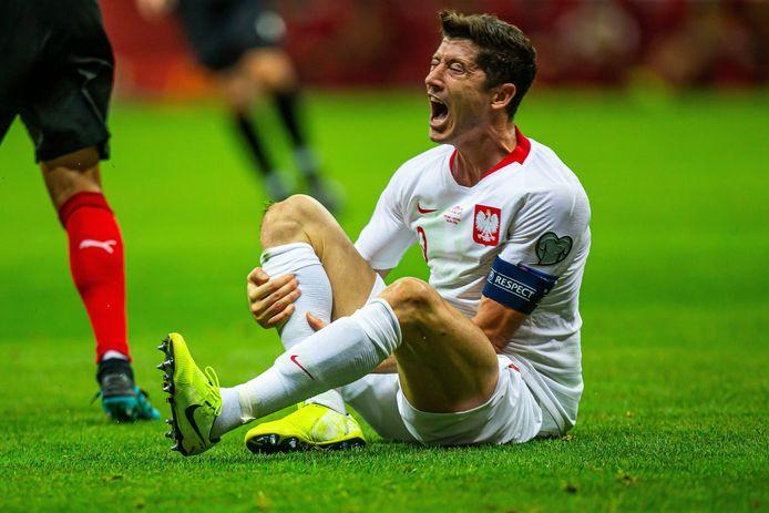 Robert Lewandowski speelt met Polen tegen Letland.