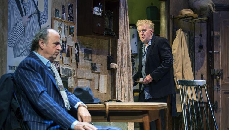 Kees Hulst en André van Duin in The Sunshine Boys. Beeld Leo van Velzen
