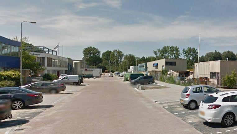 De Visseringweg op bedrijventerrein Verrijn Stuart in Diemen Beeld Google Street View