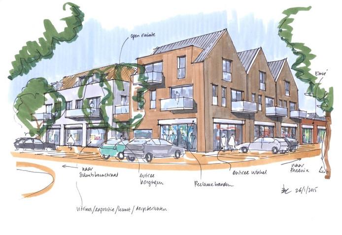 Impressie van het nieuwe dorpshart van Schaijk.