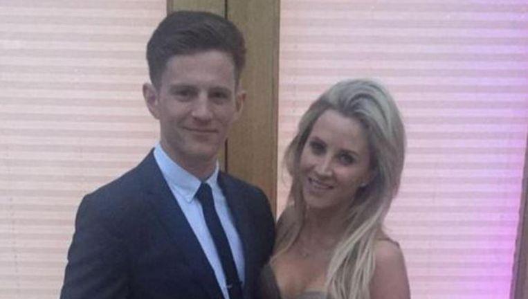 Michael Randall en zijn vriendin Charlotte Bull, die duidelijk niet veel gemeenschappelijke uiterlijke kenmerken hebben.