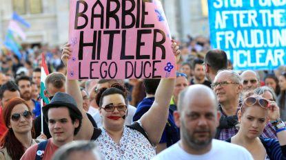 Hongaren protesteren tegen propagandamachine van president Orbán