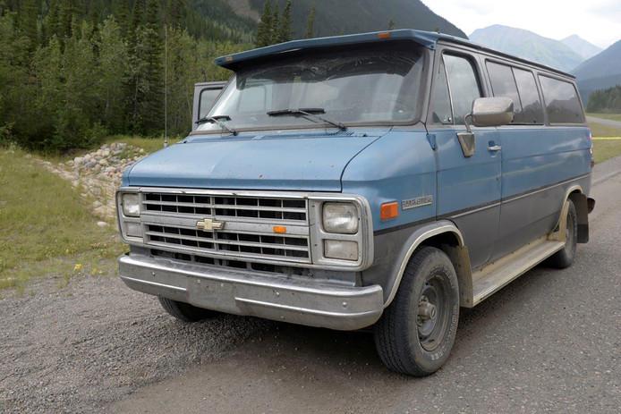 De blauwe Chevrolet waarmee Chynna Noelle Deese en Lucas Robertson Fowler rondreisden.