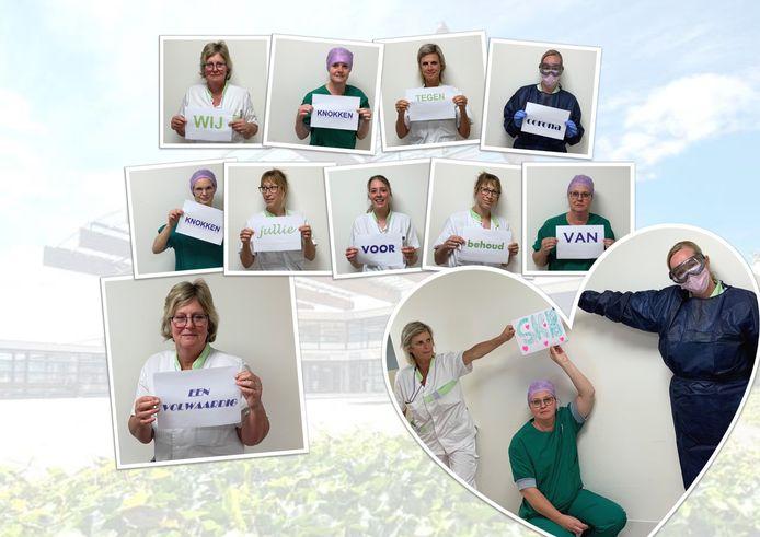 Medewerkers van het Streekziekenhuis Koningin Beatrix in Winterswijk: 'Wij knokken tegen corona. Knokken jullie voor het behoud van een volwaardig SKB?'