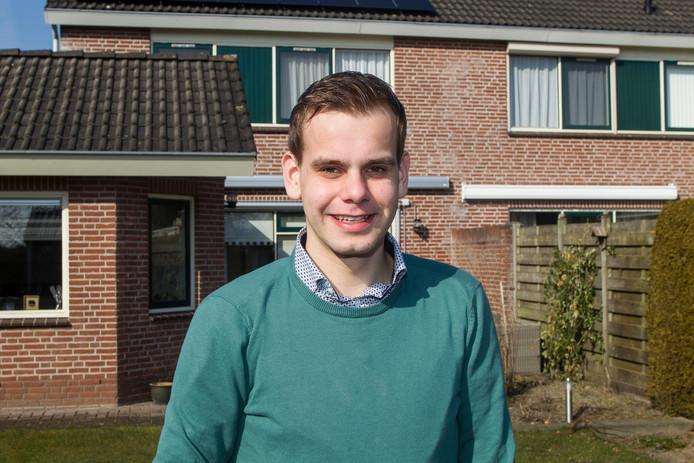 Elroy Elshof uit Broekland staat op de kieslijst voor het CDA in Raalte.