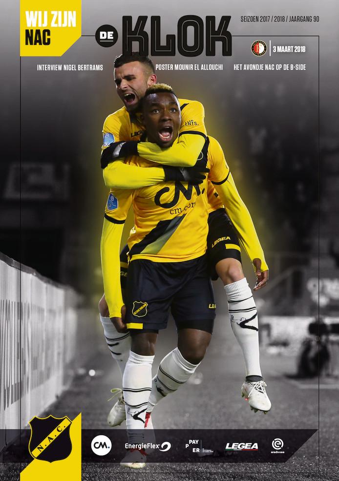De laatste editie van De Klok tijdens de wedstrijd tegen Feyenoord.
